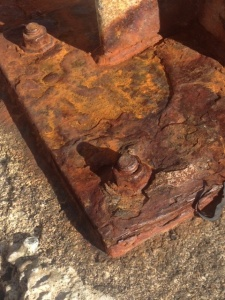 rust is reddish brown because it is iron in the form of Fe3+
