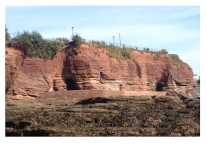 seaside cliffs in Devon are red because of lots of iron deposited as Fe3+