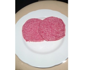 salami contains nitrite which helps kill C. botulinum spores