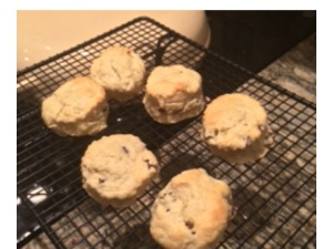 scones my wife made last week