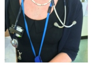 all junior doctors in our hospital wear a stethescope around their neck - it is a badge of office