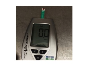 blood ketone meter - I measured my blood just after breakfast - that was why the reading was zero